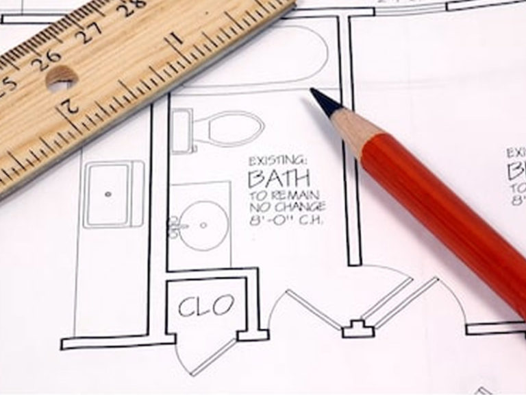 Bathroom drawing planning